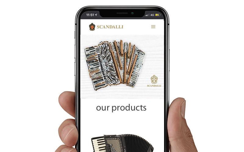 Nuovo sito web scandalli.com
